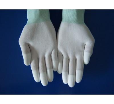 Găng tay chống tĩnh điện Carbon phủ PU Ngón
