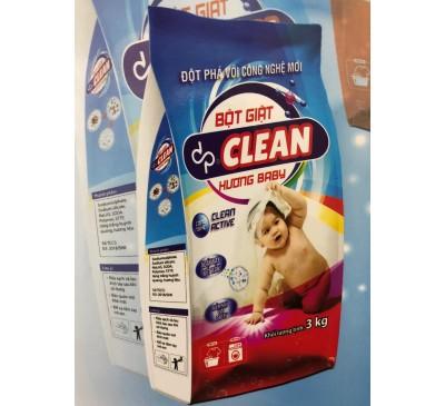 BỘT GIẶT DP CLEAN - HƯƠNG BABY 3KG