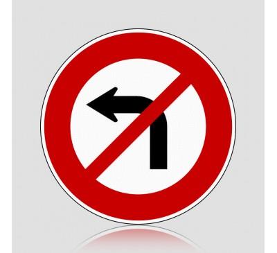 Biển báo giao thông cấm rẽ trái