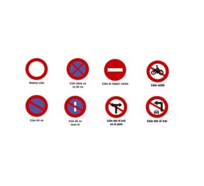 Biển báo giao thông hình tròn (các loại biển cấm)