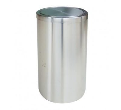 Thùng rác inox A35-F (nắp lật)